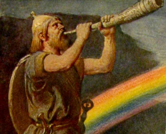 Ilustrasi dewa Heimdall dalam mitologi Norse.