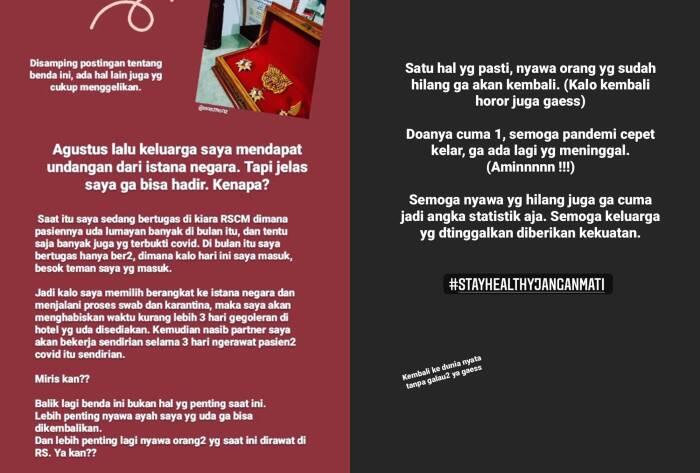 Anak minta ke Presiden Jokowi agar ayahnya