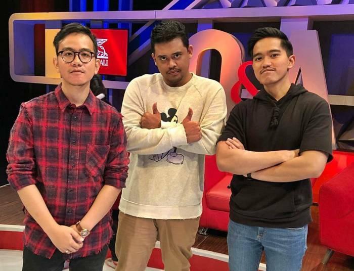 Gibran, Bobby dan Kaesang. (Instagram)