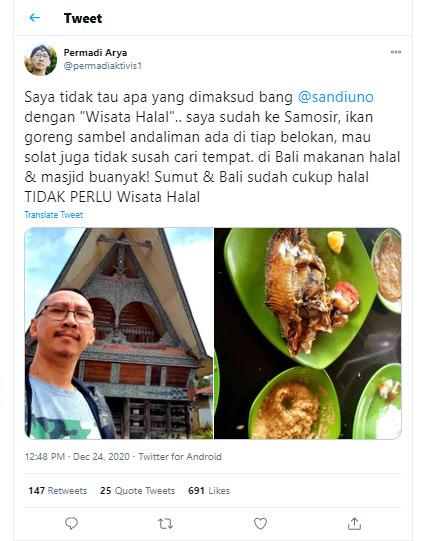 Wisata Halal Sandiaga Uno Abu Janda Sumut Dan Bali Sudah Halal Gak Perlu Wisata Halal Indozone Id