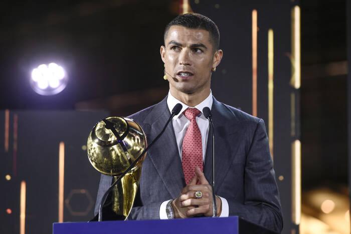 Ronaldo dalam acara Globe Soccer Awards