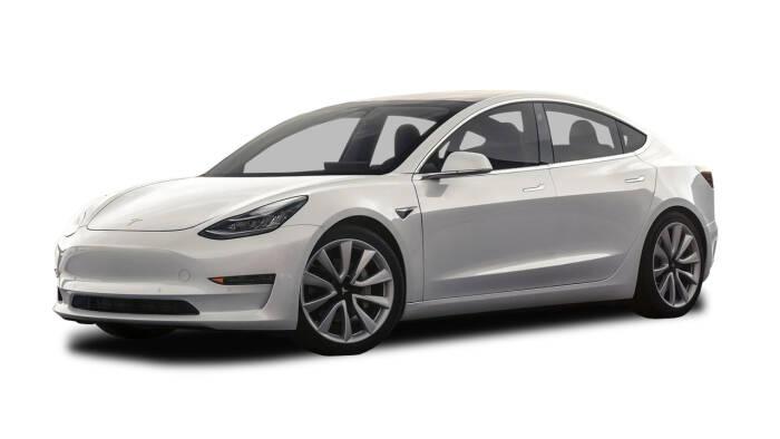 Tampilan mobil listrik Tesla Model 3