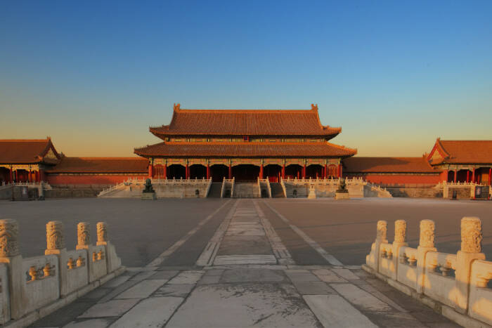 Bagian dalam istana Kota Terlarang Beijing Cina