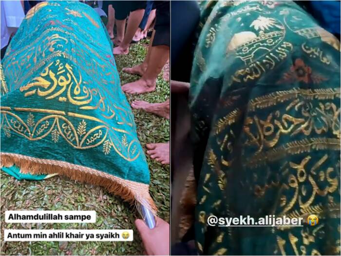 Proses pemakaman Syekh Ali Jaber. (photo/Instagram/@syakirdaulay)