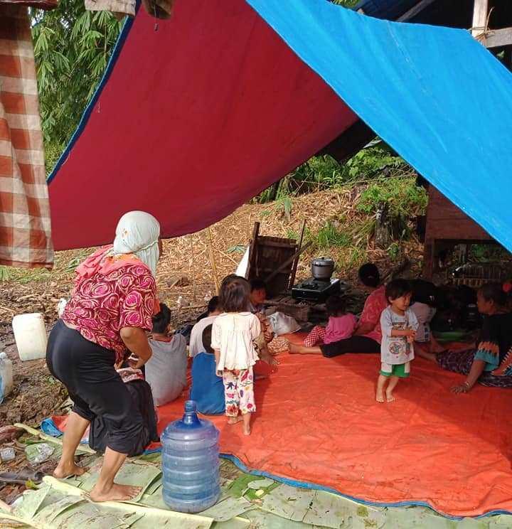 Situasi pengungsian di Mamuju. (Ist)