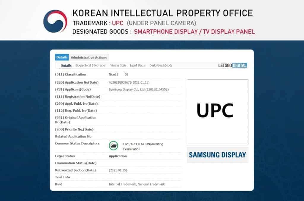 Paten teknologi UPC yang didaftarkan Samsung Display
