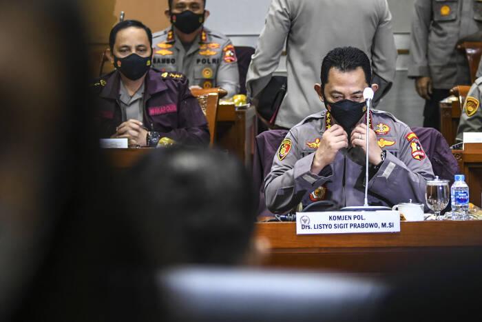 Kabareskrim Polri yang juga calon Kapolri Komjen Pol Listyo Sigit Prabowo. (Antara Foto)