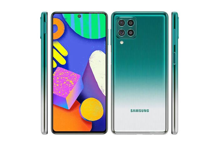 Tampilan smartphone Samsung Galaxy F62 terbaru
