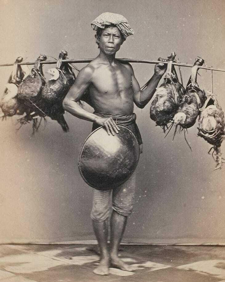penjual unggas jaman dulu