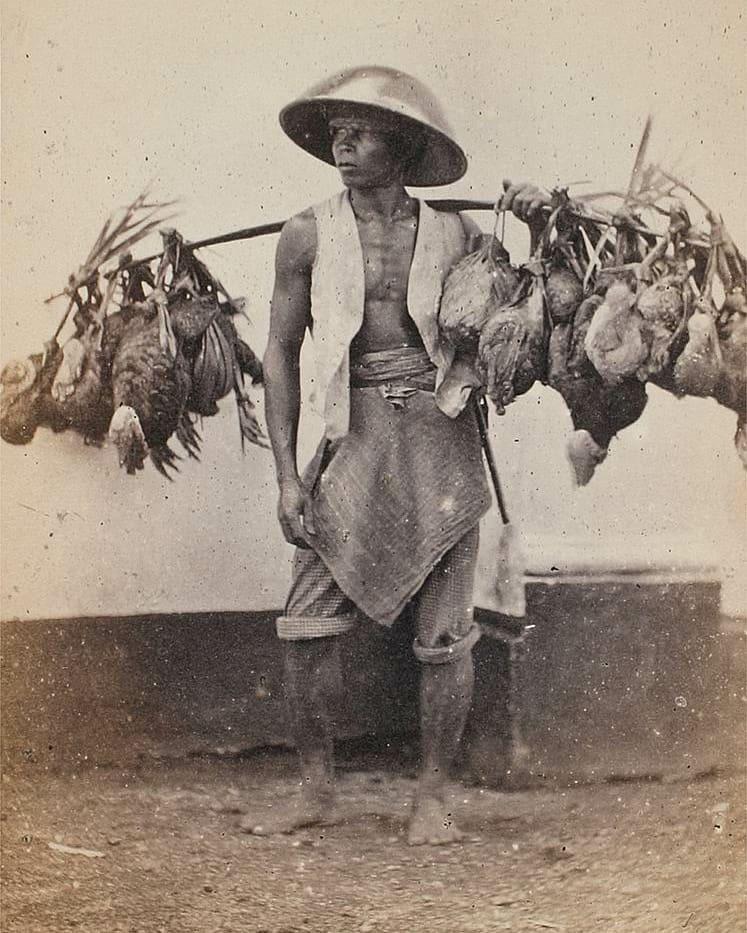 foto penjual ayam jaman dulu